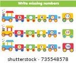 mathematics educational game... | Shutterstock .eps vector #735548578