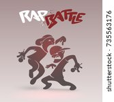 rap battle funny poster with a...   Shutterstock .eps vector #735563176