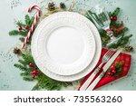 Elegant Christmas Table Settin...