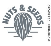 nut and seed company logo.... | Shutterstock .eps vector #735569260