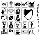 set of 22 business symbols of... | Shutterstock .eps vector #735573064