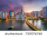 miami  florida  usa downtown... | Shutterstock . vector #735576760