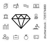 diamond line icon  outline... | Shutterstock .eps vector #735576880