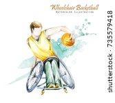 watercolor illustration....   Shutterstock . vector #735579418
