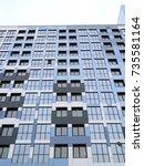 construction of apartment... | Shutterstock . vector #735581164