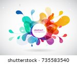abstract colored background... | Shutterstock .eps vector #735583540