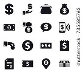 16 vector icon set   dollar ... | Shutterstock .eps vector #735585763