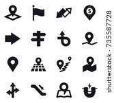 16 vector icon set   pointer ... | Shutterstock .eps vector #735587728