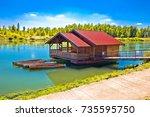 drava river floating wooden...
