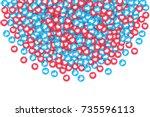 vector 3d social network blue... | Shutterstock .eps vector #735596113