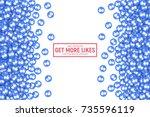 vector 3d social network like... | Shutterstock .eps vector #735596119