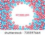 vector 3d social network blue... | Shutterstock .eps vector #735597664