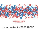 vector 3d social network like... | Shutterstock .eps vector #735598636