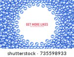 vector 3d social network like... | Shutterstock .eps vector #735598933
