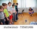 children on vacation children's ... | Shutterstock . vector #735601486