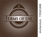 terms of use retro style wooden ...