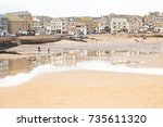 st ives cornwall uk   30 dec... | Shutterstock . vector #735611320