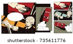 stock illustration. people in... | Shutterstock .eps vector #735611776