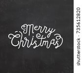 typographic christmas greetings | Shutterstock .eps vector #735612820