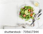 healthy balanced diet concept ...   Shutterstock . vector #735617344