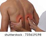 chiropractic  osteopathy ... | Shutterstock . vector #735619198