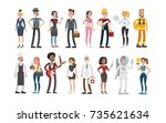 people professions set. police... | Shutterstock .eps vector #735621634