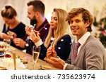 family preparations for... | Shutterstock . vector #735623974