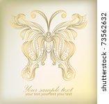 retro floral logo background... | Shutterstock .eps vector #73562632