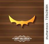 vector halloween golden bat... | Shutterstock .eps vector #735628084