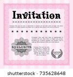 pink formal invitation. with...   Shutterstock .eps vector #735628648