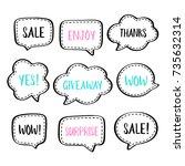 set of vector speech bubbles... | Shutterstock .eps vector #735632314