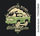 classic car t shirt design | Shutterstock .eps vector #735633868