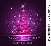 christmas tree purple... | Shutterstock .eps vector #735638440