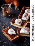 american pumpkin pie   Shutterstock . vector #735638680