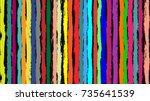 seamless striped pattern of... | Shutterstock .eps vector #735641539