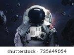 picture of astronaut... | Shutterstock . vector #735649054