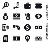 16 vector icon set   dollar... | Shutterstock .eps vector #735653986
