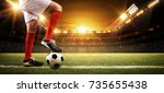 football player in the stadium | Shutterstock . vector #735655438