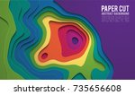 colorful paper cutout. paper... | Shutterstock .eps vector #735656608