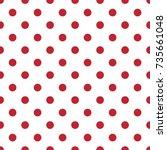 polka dotted retro geometric... | Shutterstock .eps vector #735661048