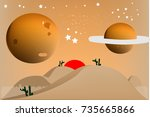 landscape star and planet space ...