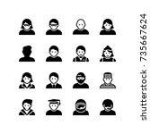 people and gender icon set | Shutterstock .eps vector #735667624