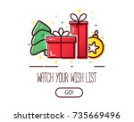 vector banner with gift boxes... | Shutterstock .eps vector #735669496