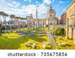 Trajan\'s Forum Landmark Of Rom...