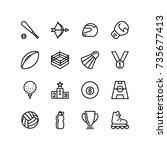 outdoor and indoor games icon...   Shutterstock .eps vector #735677413