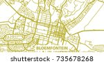 detailed vector map of... | Shutterstock .eps vector #735678268