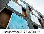 low angle view of futuristic... | Shutterstock . vector #735681310