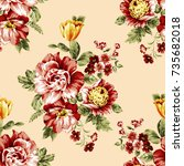 Beautiful Rose Floral Pattern ...