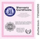 pink retro vintage warranty...   Shutterstock .eps vector #735683050