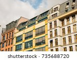 modern and colorful apartments... | Shutterstock . vector #735688720